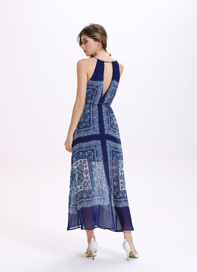 Sleeveless open back Maxi dress