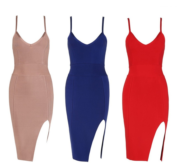 SAMPLE::designer one piece bandage evening dresses